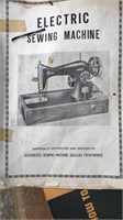 """Antique  """"New Majestic"""" Electric Sewing Machine"""