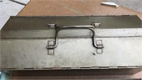 """Vintage Metal Tool Box and Contents 21"""" Long"""