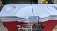 Vintage Coleman Picnic Cooler a s Rubbermade Slim