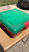 Plastic Storage Tote with Vintage Christmas