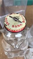 Mikasa Vase and Antique Snow Crest Bottle Bank