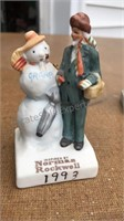 Vintage Lefton Figures and Norman Rockwell