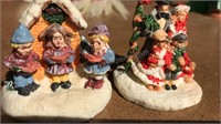 Vintage Beaded Christmas Ornaments, larger one is