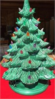Vintage Ceramic Christmas Tree in Musical Base