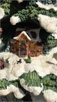 """Thomas Kincaid Village Christmas Tree 17"""" Tall"""