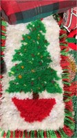 Vintage Christmas Hook Rug Items and other