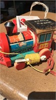 """Vintage Fisher Price """"Huffy Puffy"""" Wooden Train"""