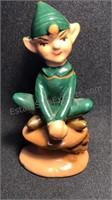 "3 Vintage Enesco Japan  Ceramic Elves 3"" tall"