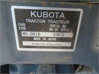 2018 Kubota M5-091D Wheel Tractor