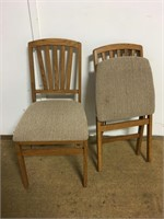 Wood & Upholstered Folding Chairs