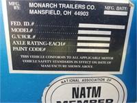 1995 Monarch Bumper Pull Stock Trailer,