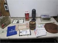 Silver Civil War Tokens Marbles Breyer Coins Storage Unit +