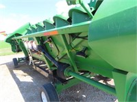 2002 John Deere 893 8 row corn head, poly, serial