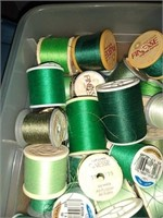 Estate lot of thread and misc