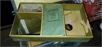 Green Featherweight GE Sewing Machine in Box