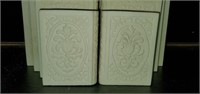 Decorative Italian Bonded Marble Bookends