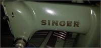 Vintage Green Singer sewing machine as is