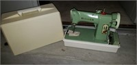 Vintage Green Singer sewing machine