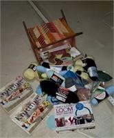 Knitting set, misc yarn,