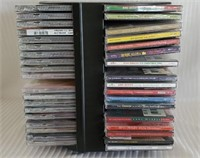 Lot of 49 Misc Christmas CD's & Swivel Stand