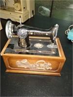 Vintage sewing machine box