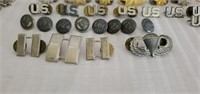 Vintage Lot of Misc Military Pins, Pens, Tickets