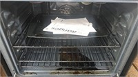 Ge Black & Stainless Glass Top Electric Range