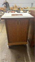 2 Door Wheeled Router Stand W Contents