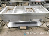 Duke 4-well steam table, 120V. Located in Pueblo,