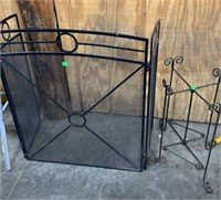 Fireplace Screen And Stand