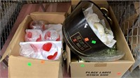 Box Of Heart Vases, Candles,and Decor
