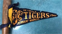 1945 Detroit Tigers World Series Pennant and