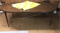 Vintage Laminated Dining Table Oval Shape Metal