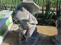 Concrete Frog Garden Statue
