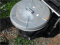 Metal Trash Can and Lid