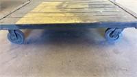 Wood Platform Steel Frame Industrial Cart