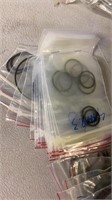 Various Sizes of O rings and Zip Ties