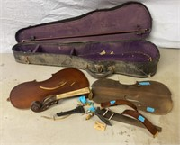Violin Case and Violin Pieces
