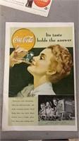 Vintage Coca Cola Advertisement