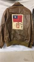 Ladies Leather Jacket and Men's Bomber Jacket