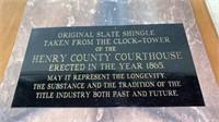 Henry Co. Original Court House Slate Shingle