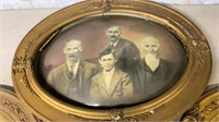 Domed Shape Picture Frame and Vintage Pictures