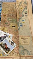 Vintage Postcards, Motorcycle Cards, US Map