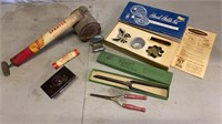 Vintage Curling Irons, Shell Molds, and Sprayer