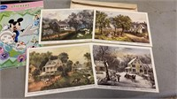 Currier & Ives Lithographs and Stationary