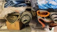 Two shelves Of Car Vinyl, Carpet, and Padding: