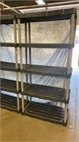 2 Plastic 5 shelf units