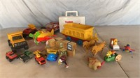 Wooden Blocks, Trucks, and Other Toys