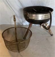Gas Kettle Burner and Fry Basket