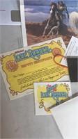 Lone Ranger Poster, Deputy Kit & VHS Tape